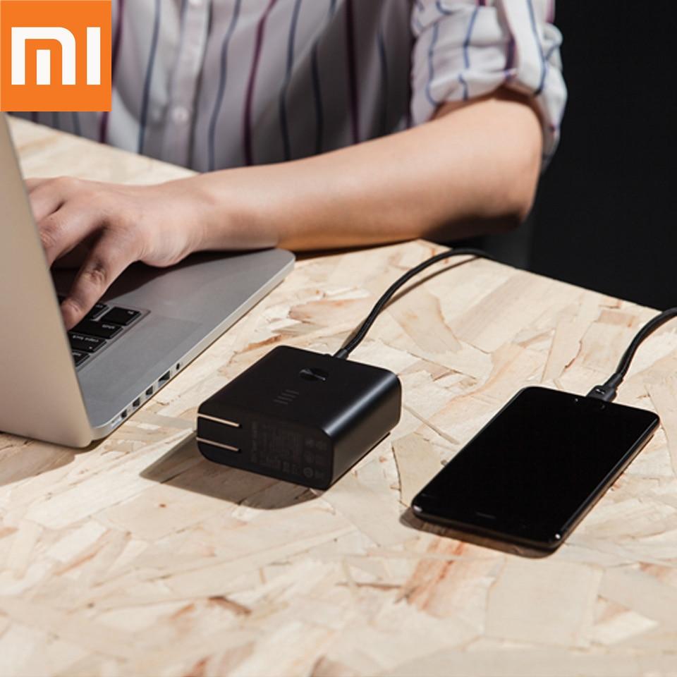 Batterie externe d'origine Xiaomi ZMI 2 en 1 6500 mAh avec chargeur mural charge rapide 3.0 chargeur portable à deux vitesses batterie externe si 2019