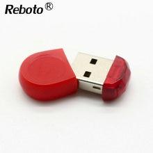 Reboto Super Mini Red Tiny 64GB USB Flash Drive Pen Drive 32GB 16GB 8GB 4GB USB 2.0 Memory Stick Pendrive Flash Drive For Gift