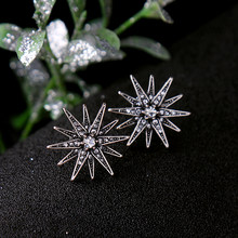 On Sale Promotion Dainty Sweet Pave Stars Crystal Stud Earrings Women Rhinestone Brincos Earrings Bijoux Jewelry Gift E5213(China)