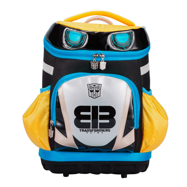 8e5516da09cf THE TRANSFORMERS cartoon children kids ergonomics shoulder backpack books school  bag portfolio for boys grade 1-3