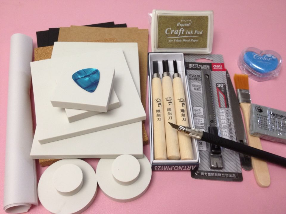 Hand carved rubber stamp carving special diy in stationery