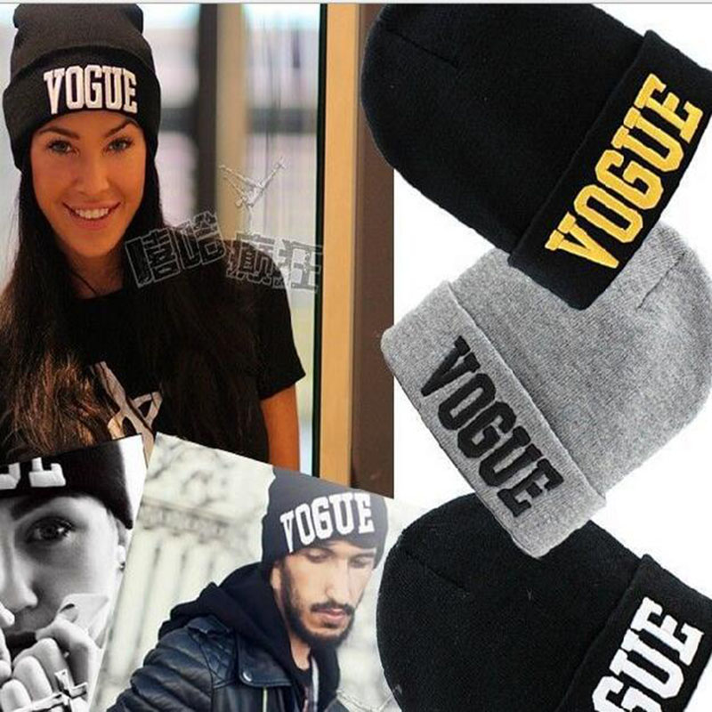 Fashion Hip Hop Hat VOGUE Skullies Beanies Hats for font b Women b font Wool Knitted