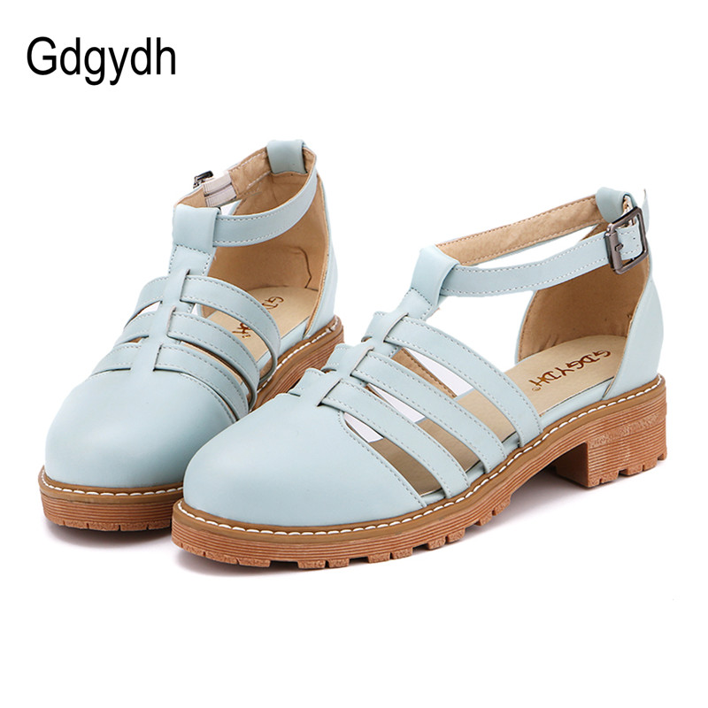 Gdgydh Hot Sales 2017 Summer Closed Toe Women Sandals Fashion Casual Cut outs Female Sandals ...