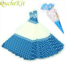Cellophane-Bags Sugar-Bags Popcorn Clear Plastic Candy Treat Blue Triangular Cone-Shaped
