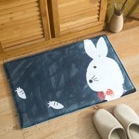 Cartoon Cute Absorbent Carpet Rabbit Cat Dog Bathroom Bedroom Doormat Floor Non slip Rug