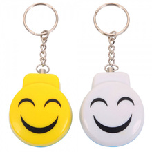 Smile Face Self defense Pull Chain Clasp Anti snatch Alarm Girl Security Accessory Apparatus Against the