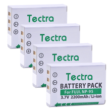 Tectra 4pcs NP-95 NP95 NP 95 Digital camera Battery for Fujifilm FinePix REAL 3D W1 X100 X100S X-S1 F30 F31fd X30 X100T Ricoh GXR