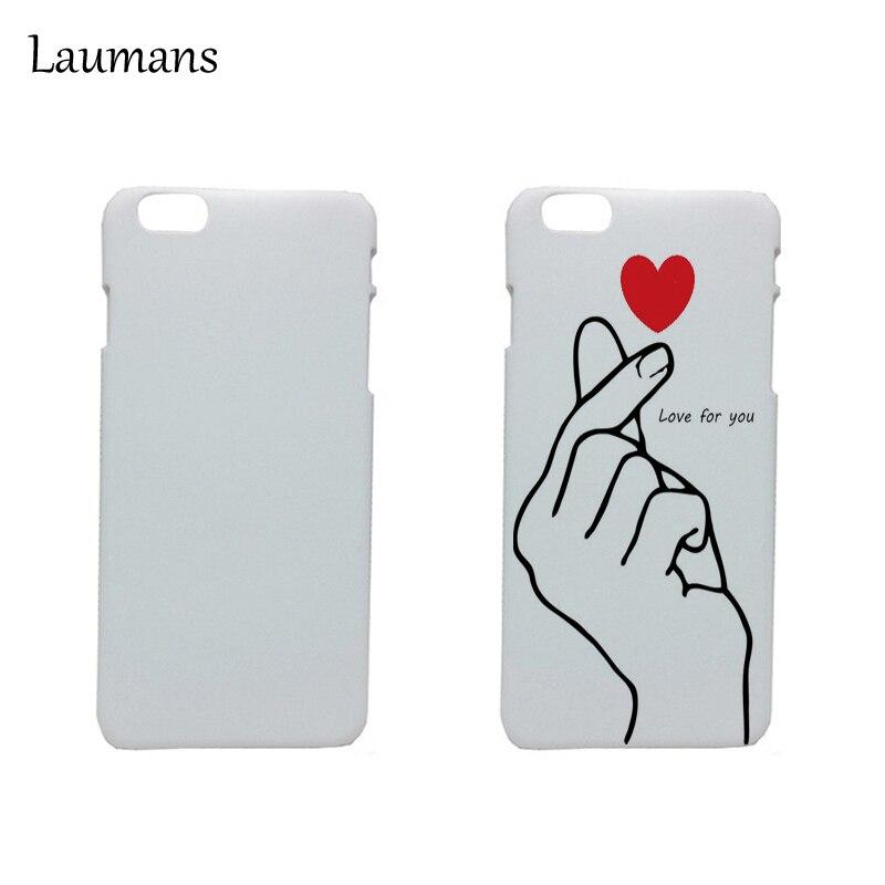 imágenes para Laumans 50 unids Para Iphone 6 Caso de impresión UV En Blanco Blanco Pintura DIY Fundas Para 6 plus 7 7 plus Impresión Frosted Mate cubierta