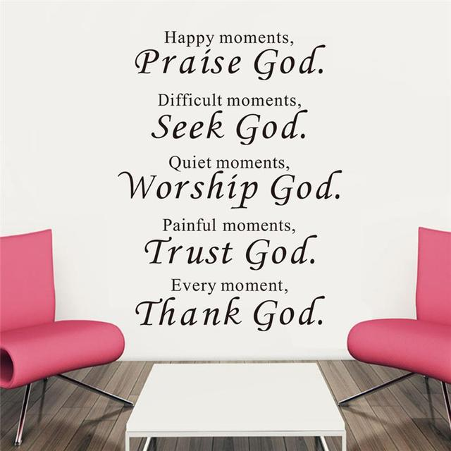 Trust God Bless You Wall Stickers Quotes Christian Living Bedroom