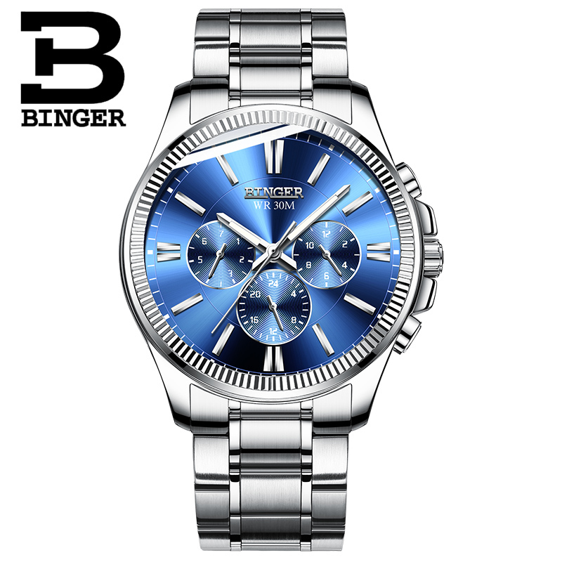 BINGER Watch Men Luxury Brand Automatic Mechanical Watch Sapphire Wristwatches Moon Phase relogio masculino Men Watches B1180-10BINGER Watch Men Luxury Brand Automatic Mechanical Watch Sapphire Wristwatches Moon Phase relogio masculino Men Watches B1180-10