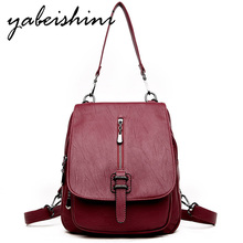 2019 New woman backpack Shoulder bags for Womens leather Lady travel Sac a Dos school teenage girls