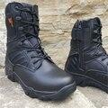 2017 Del Ejército de EE.UU. de Combate Masculinos antideslizantes transpirable Zapatos de Los Hombres Botas de Desierto Tácticos Botas de Otoño E Invierno 39-45 zapato