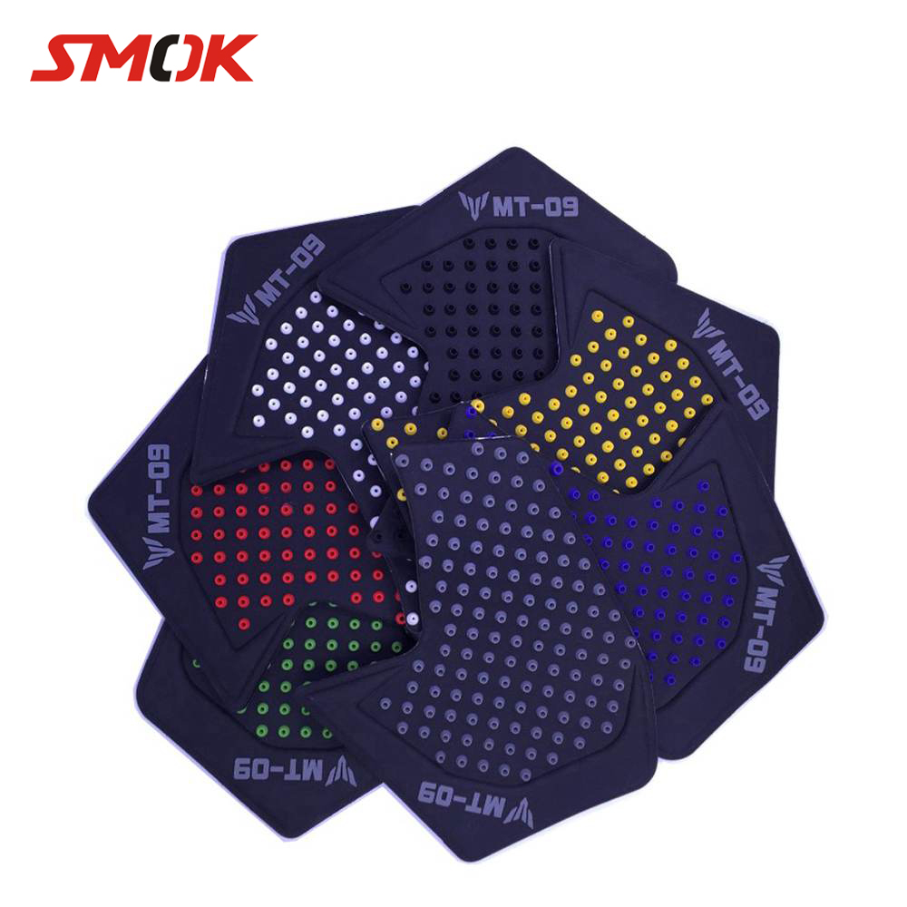 SMOK For Yamaha MT09 MT 09 MT-09 2017 2014-2018 Motocross Motorcycle Motor Rubber Decals Tankpad Tank Pad Protector Stickers цены онлайн