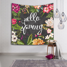 Digital Printing Tapestry Wall Beach Towel European and American Flower Series Fabric Hanging Decor Polyester