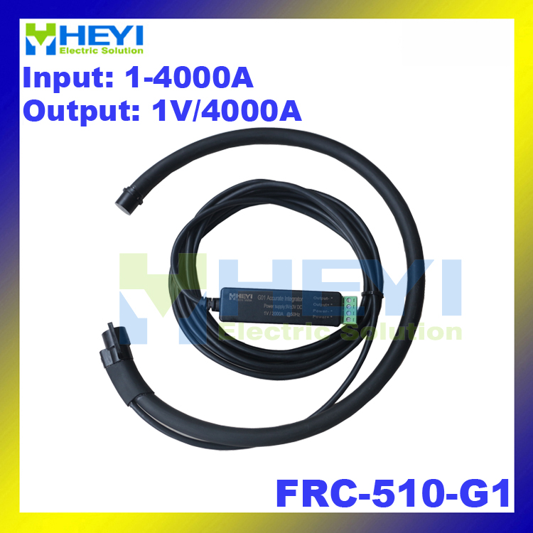 цена на Black Red Yellow Rope CT Rated current 4000A Output: 1Vrms flexible rogowski coil ct FRC-510-G1