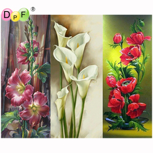 DPF DIY 5D full Round Diamond Painting red poppy flower Magic Cube Cross Stitch crafts Diamond Embroidery Mosaic Home Decor gift