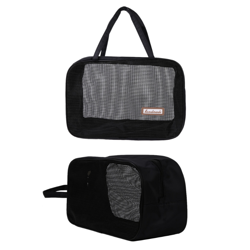 2018 New Portable Bathing Bag Mesh Shower Toiletry Pouch Travel font b Makeup b font Storage