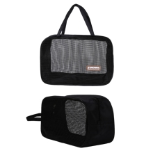 2018 New Portable Bathing Bag Mesh Shower Toiletry Pouch Travel Makeup Storage Holder