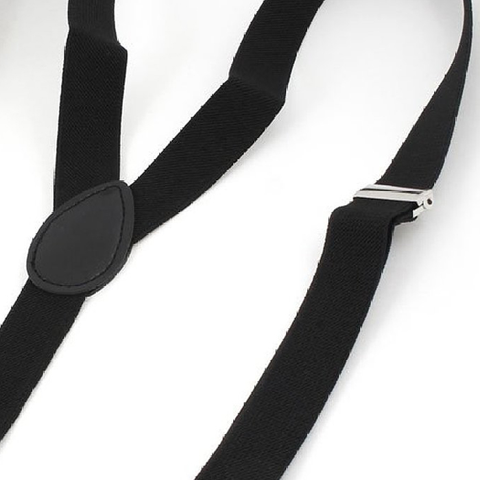 Hot Lady Woman Adjustable Metal Clamp Elastic Suspenders Braces - Black