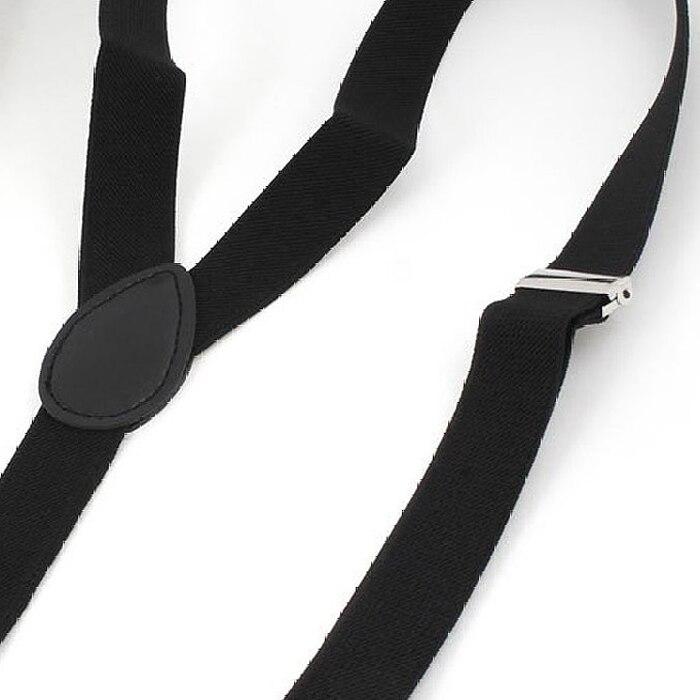Hot Lady Woman Adjustable Metal Clamp Elastic Suspenders Braces - Black