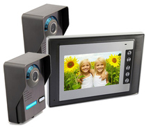 freeship 7 Color Screen Video Intercom Night Vision CMOS Camera support Door Access Control Two To
