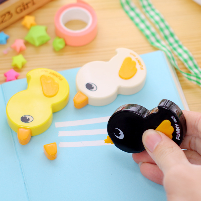 6mX5mm Funny Duck Correction Tapes Cute Cartoon Animals Stationery Student Gift