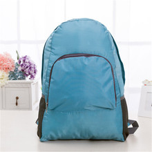 Фотография Multifunctional outdoor nylon waterproof shoulder bag male and female student storage folding bag simple style juvenile bag