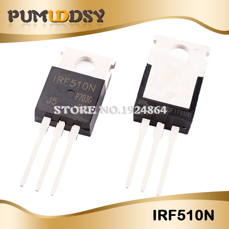 US $1 32 12% OFF|10PCS/LOT IRF510N IRF510NPBF IRF510 MOSFET N Chan TO 220  100V 5 6 Amp New original free shipping IC-in Integrated Circuits from