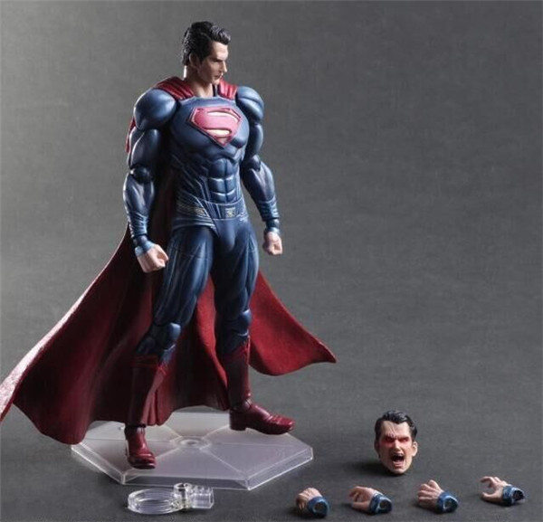 Superman Action Figure Play Arts Kai Dawn of Justice Toys 270mm Anime Movie Model Batman v Superman Playarts Kai Clark Kent tobyfancy play arts kai action figures batman dawn of justice pvc toys 270mm anime movie model pa kai heavily armored bat man
