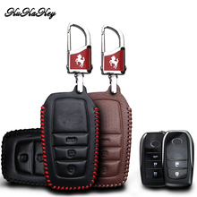 KUKAKEY Genuine Leather Car Key Case Bag For Toyota Crown Camry Highlander Remote Smart Cover Styling Accessories