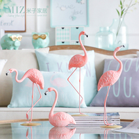 Miz 1 Piece Flamingo Resin Figurine Home Decoration Accessories Elegant Flamingo Gift For Friends Ins Style