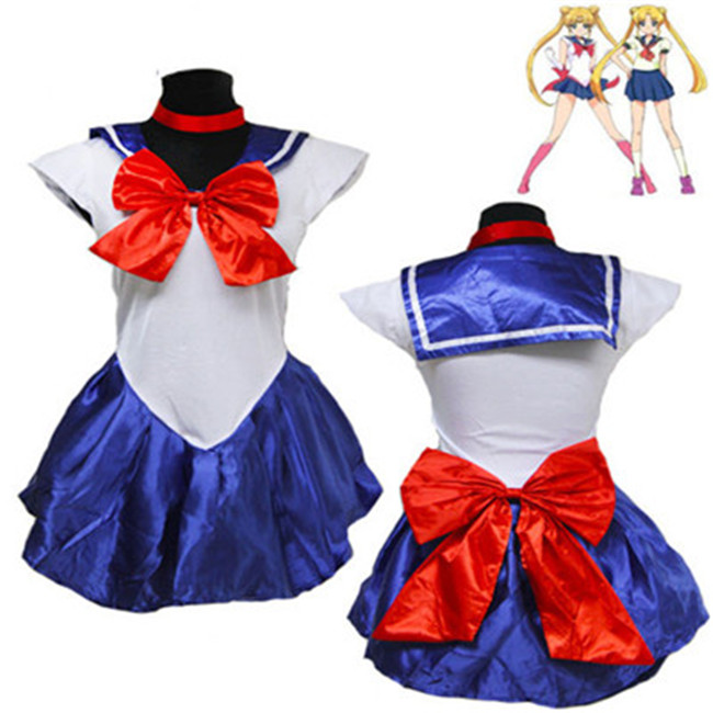 Vocole Japanese Anime Sailor Moon Costume High School Girl Uniform Size M XL
