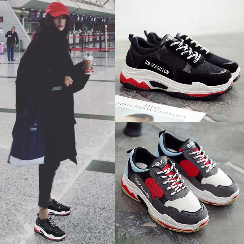 где купить Sneakers Woman Korean Ulzzang Original Su HyunA With Ins Exceed Fire Real Shoes Dad-ALEX по лучшей цене