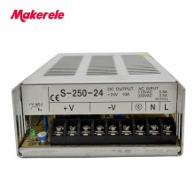 цена на single output type CE IP20 Constant voltage AC to DC 250W 5v 12v 24 48v 5a power supply 48v switching power supply