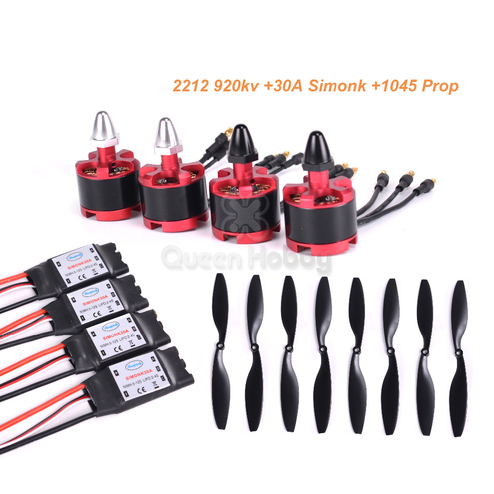 2212 920KV Brushless Motor +30A SimonK ESC +1045 Propeller For Quad  Multirotor X525 F450 S500 S550-in Parts & Accessories from Toys & Hobbies  on ...