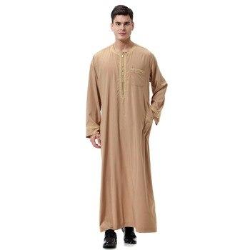 248e58248 Ropa India Formal Jubba Thobe vestido para Hombre vestido musulmán bata  salón árabe saudí ...