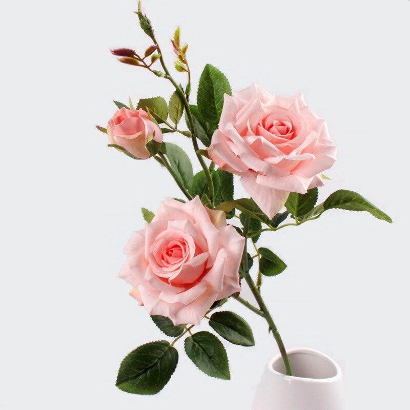 Jarown искусственные 3 головки Париж розы цветы искусственные растения декоративные цветы из шелка для свадьбы домой партия украшения Accor