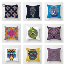 Fuwatacchi Multi-color Mandala Cushion Cover Floral   Soft Throw Pillow Cover Decorative Sofa Pillow Case Pillowcase цены