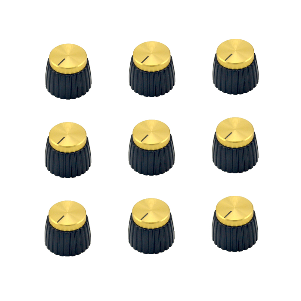 10x Push On Knobs Pentru Marshall Amplifier Gold Transport gratuit
