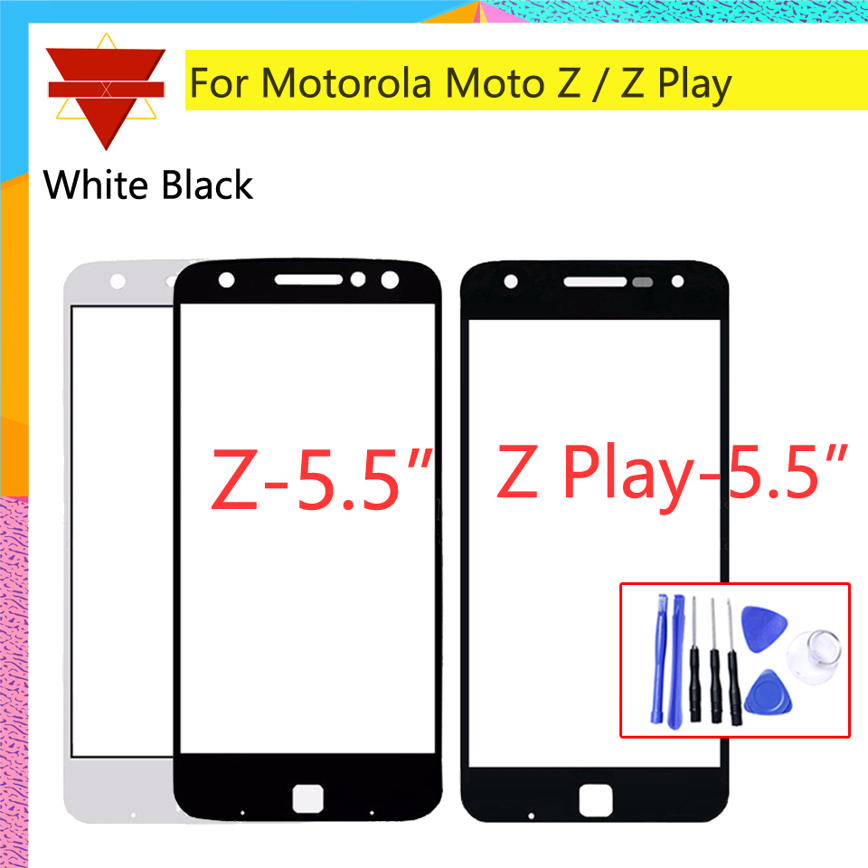 Touchsreen For Motorola Moto Z Droid <font><b>XT1650</b></font> / Z Play Droid XT1635 Touch Screen Front Outer Glass Panel Lens NO <font><b>LCD</b></font> Digitizer image