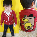 christmas sweater baby boys v-neck single breasted red cartoon printed knitted kids fashion cardigan toddler children clothes