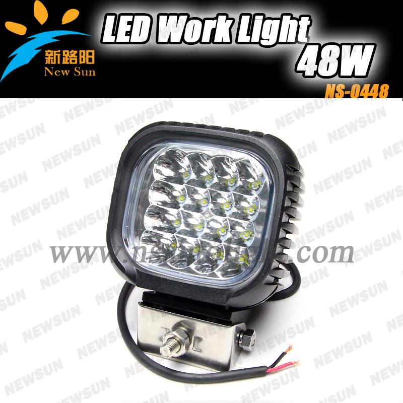 Hot sale led work light high power 48w for jeep truck tractor trailer led work driving light replacement 6000K high brightness