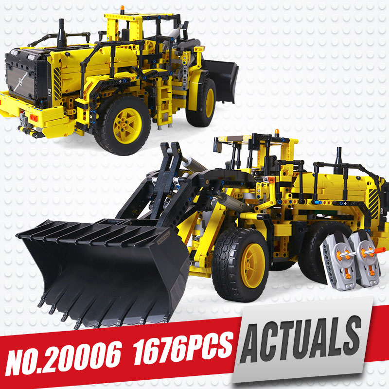 DHL LEPIN 20006 Genuine technic series Volvo L350F wheel loader Model Building blocks Bricks Compatible with legoing 42030 dhl new lepin 06039 1351pcs ninja samurai x desert cave chaos nya lloyd pythor building bricks blocks toys compatible 70596