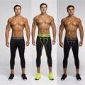 Jog-ging Vansydical 3/4 calças De Compressão execução collants esportes leggings de fitness homens g-y-m roupas respirável atravessar ajuste calças
