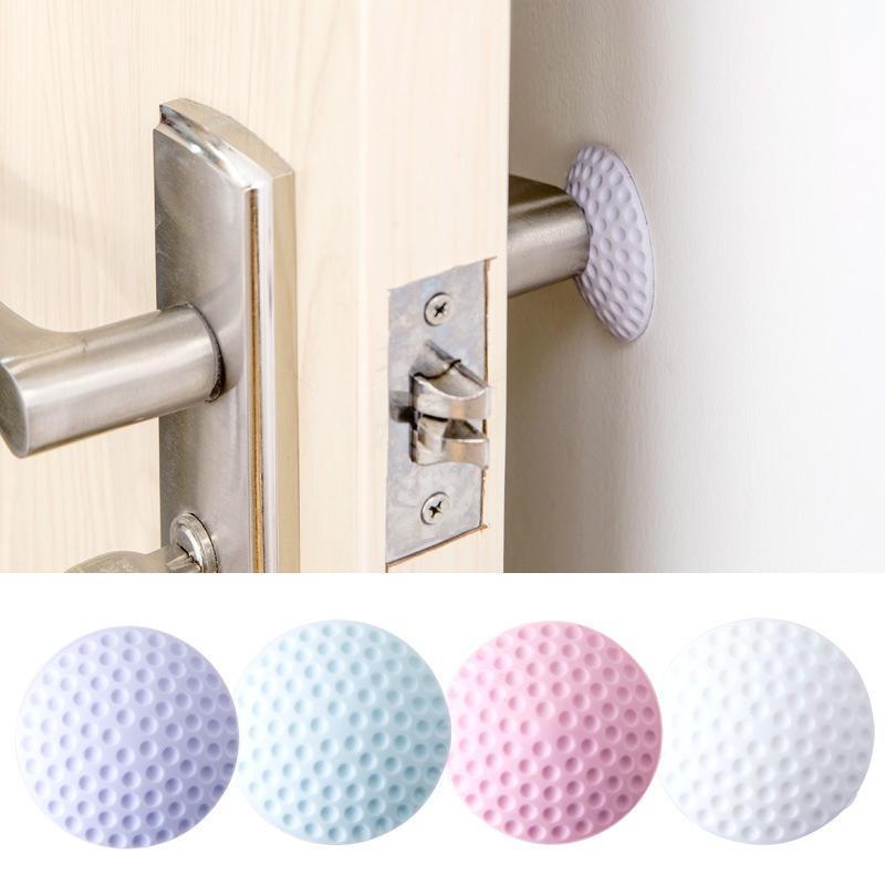 Door Handle Bumper Rubber Lock Crash Mat Pad Wall Protector Guard Door Stopper
