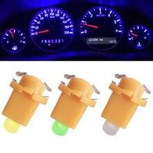10 pezzi Per Auto Auto COB 1 SMDLED Indiator Calibro Luci Interior Dashboard Dash Laterale Della Lampada DC12V Rosso Bianco Blu strumento luce