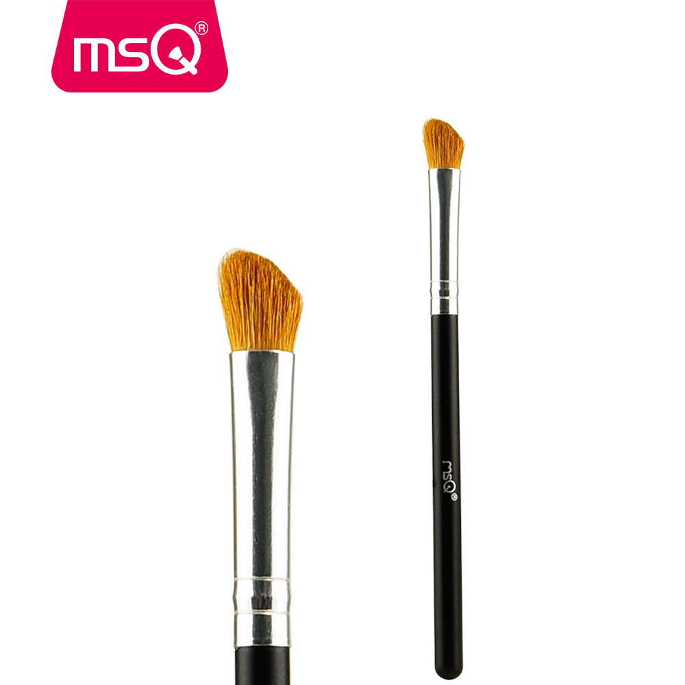 MSQ Brand Professional Makeup Eyeshadow Blending Brush Horse Hair Cosmetic Tool For Fashion Beauty Make up Brush brand msq high quality synthetic hair foundation makeup brush with painted wood handle for fashion beauty new cosmetic tool