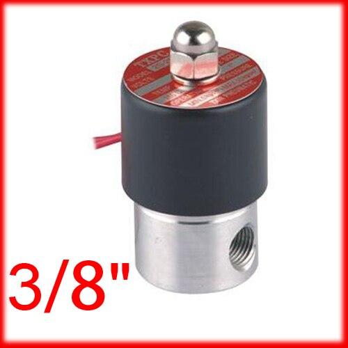 3/8 ''из нержавеющей стали электромагнитный клапан 2s040-10 вода Миниатюрный клапан небольшой размер устойчивость к коррозии ss Средства ухода за кожей, 12 В 24 В 220 В