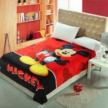 Summer Disney Cute Mickey Minnie Blanket Soft Flannel Cartoon for Children on Bed Sofa Couch children woolen blanket