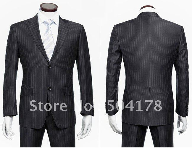 2012 New Arrival Men Suits For Wedding White Black Stripe Suit ...